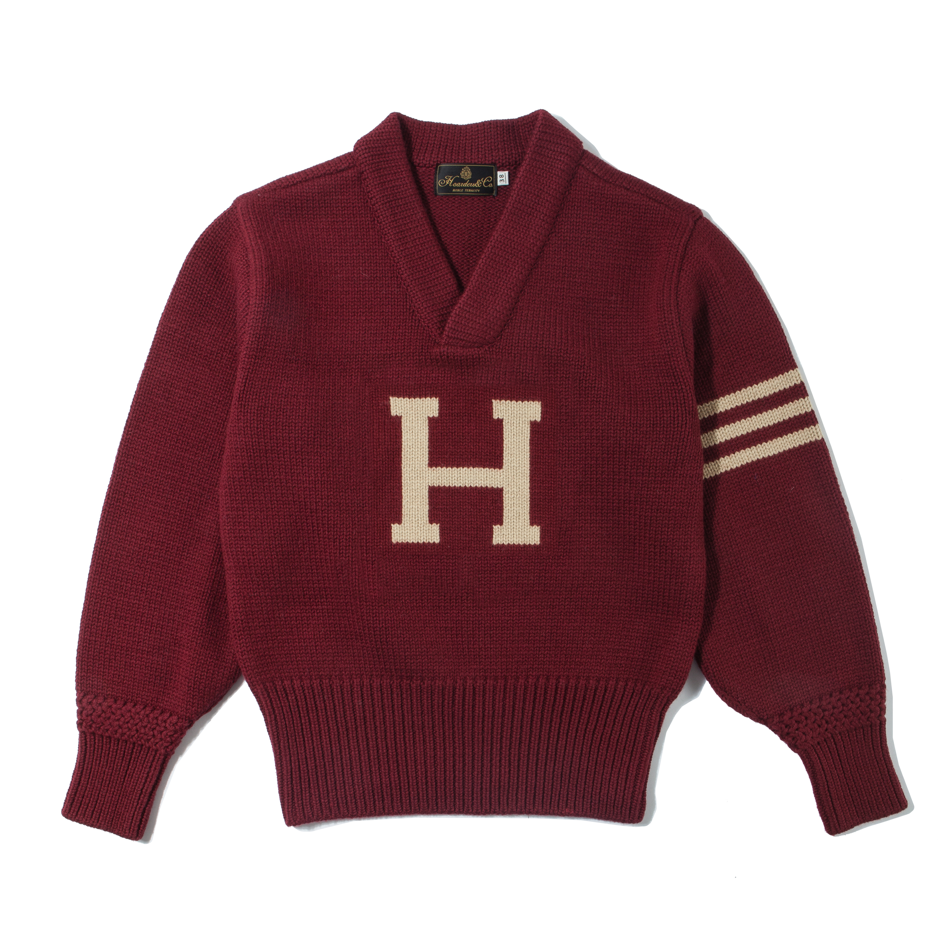 LETTERMAN SWEATER [MAROON RED]